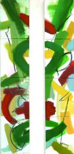 MarkusWagenhofer_Flächen-Linien-Dynamik_ je 160x30 cm_ ÖlKohleLwd._2014